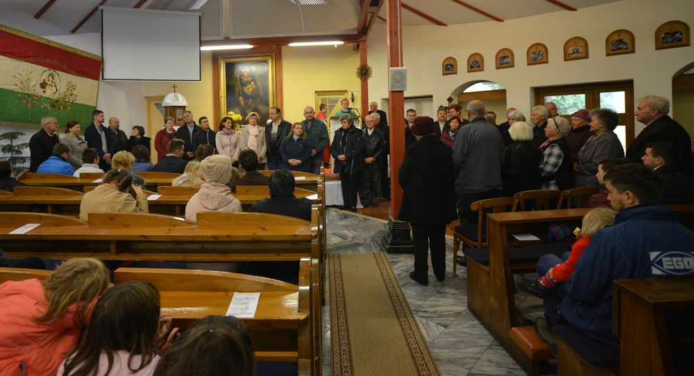 jubiláns házasok köszöntése a Szent Mihály plébánián